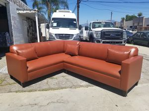 NEW 7X9FT HOUSTON COCOA LEATHER SECTIONAL COUCHES for Sale in Chula Vista, CA