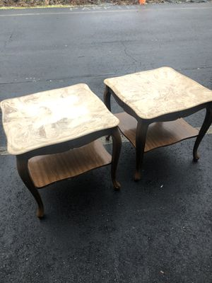 Two marble top end tables for Sale in Stafford Courthouse, VA
