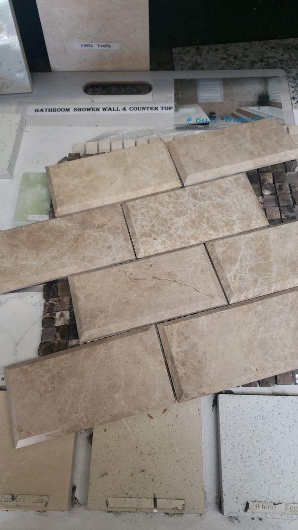 Tile. Kitchen. Bathroom. Cabinets. Granite must go