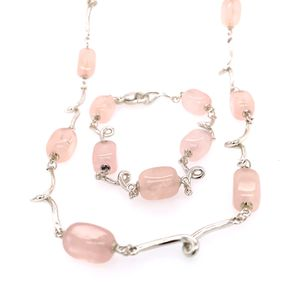 Tiffany and Co. Pink Quartz Necklace and Bracelet Set for Sale in Alexandria, VA