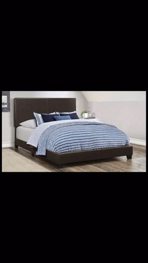 Queen bed frame with mattress and box spring 260$ total delivery available for Sale in Norridge, IL