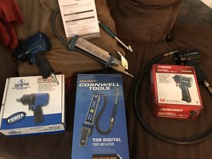 Cornwell and Husky impact gun Wrench and Digital Tire inflator for Sale in Cheyenne, WY