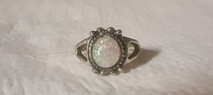 New Sterling Silver Plated Moonstone Beaded Ring. for Sale in Pawtucket, RI