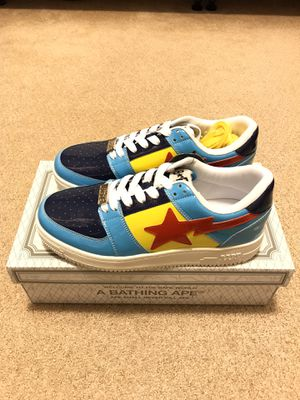 Bape Color Block Bapesta Low (Blue) M1 Men's Size 10 for Sale in Irvine, CA