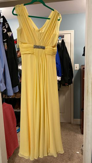 Long Yellow Dress Size 10. for Sale in Garrison, MD
