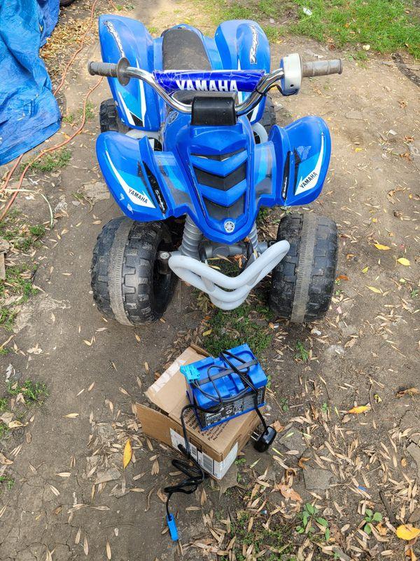 YAMAHA KIDS BLUE FOUR WHEEL MOTORCYCLE