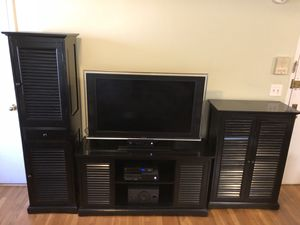 Tv stand, matching storage cabinets pier 1 for Sale in New York, NY