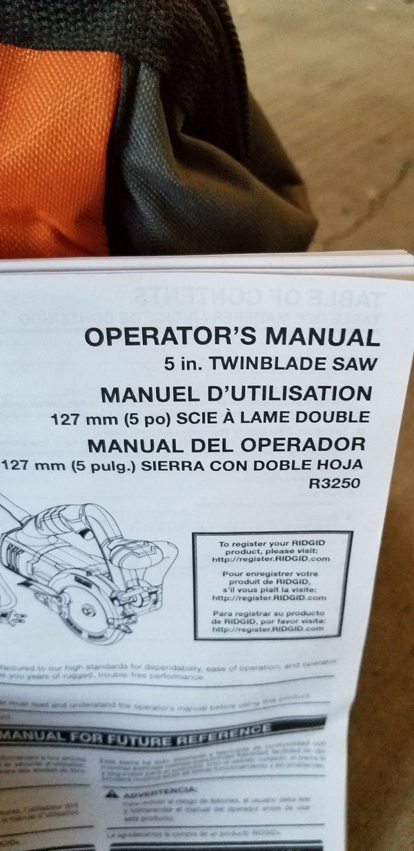 Ridgid twin blade power saw
