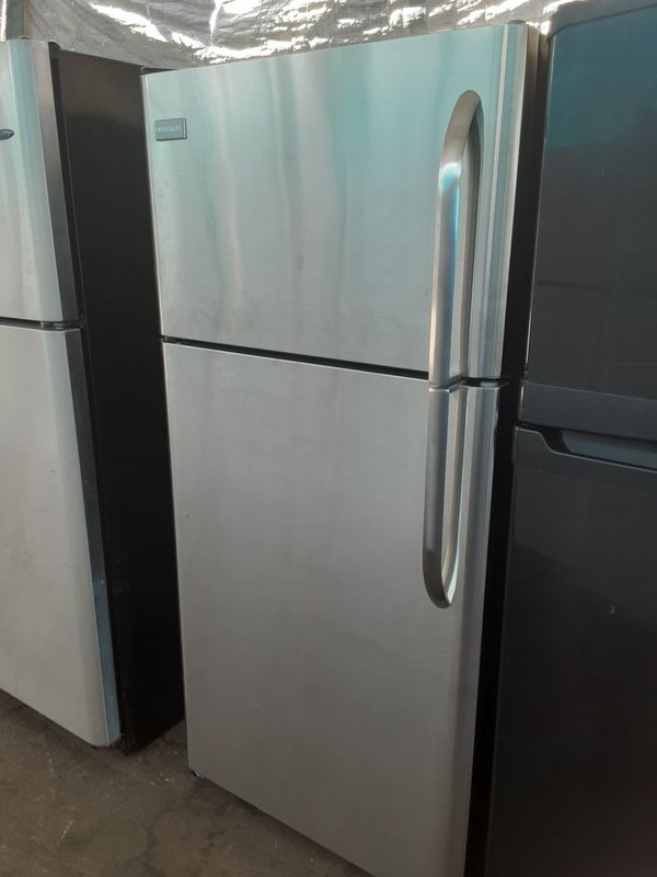 $350 Frigidaire stainless 18 cubic fridge includes delivery in the San Fernando Valley a warranty and installation