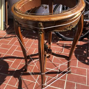 Bronze And Wood Antique Table Needs GluinAnd Repairing All Bronze There French Table for Sale in Delray Beach, FL