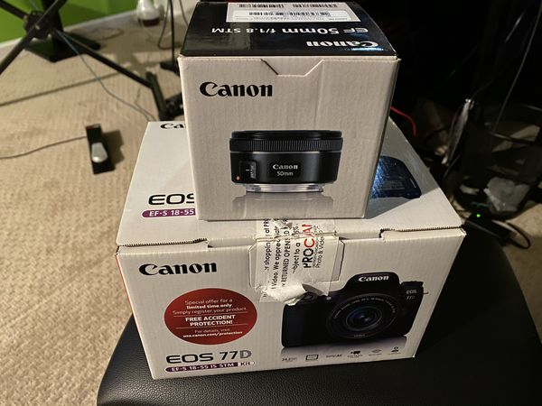 Canon 77d plus lens canon EF 50 mm f/1.8