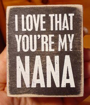 Nana wooden block for Sale in Taunton, MA