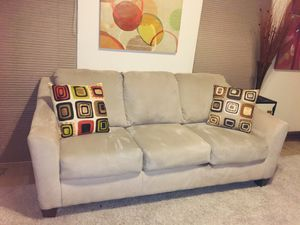 Nice clean beige comfortable sofa (Free Delivery) THE PRICE IS FIRM NOT NEGOTIABLE for Sale in Bowie, MD