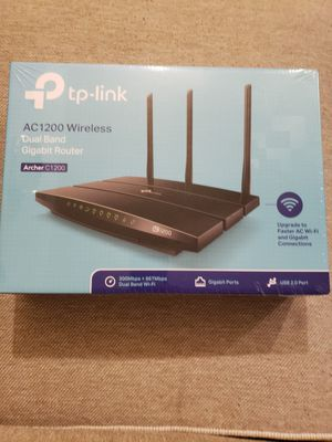 TP-Link AC1200 Gigabit Smart WiFi Router - 5GHz Gigabit Dual Band Wireless Internet Router, Supports Guest WiFi, Black for Sale in Philadelphia, PA