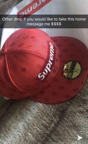Supreme Monogram Box Logo New Era Red for Sale in Miami, FL
