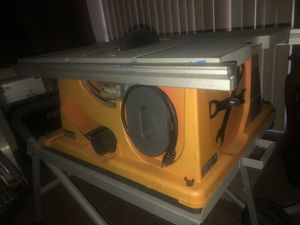 """Ridgid Table Saw (Rolling """"Work N Haul It II"""") TS2400-1 15AMP Saw for Sale in Norco, CA"""