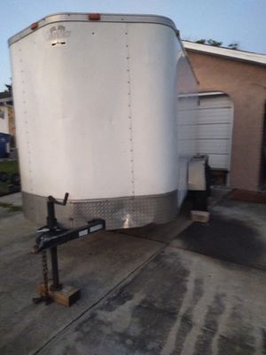 Trade 6x14 enclosed trailer tandem axle 4 brand new tires ,all lights work including inside lite. for Sale in NEW PRT RCHY, FL