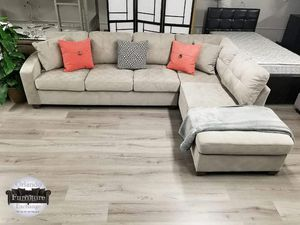 $679 WE DELIVER! BRAND NEW GREY SECTIONAL SOFA for Sale in Oviedo, FL