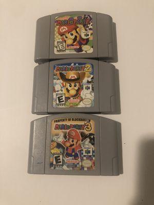 Mario Party's 1, 2, & 3 Authentic for Sale in Miami, FL