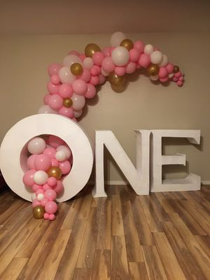 Birthday giant decoration letters for Sale in Las Vegas, NV