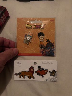 Dragon Ball Z and Disney Pins enamel for Sale in Las Vegas, NV