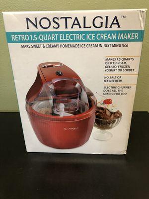 Brand new Nostalgia Retro 1.5 quart electric ice cream maker for Sale in Buckley, WA