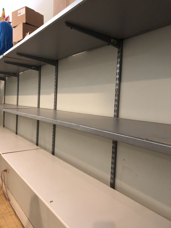 8 Industrial wall shelves