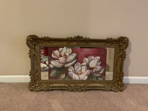 Flowers in Mirror Wall picture for Sale in Glenn Dale, MD