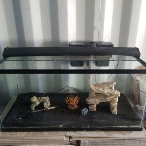 40 Gallon Fish Aquarium Tank With Accessories for Sale in Moreno Valley, CA