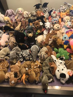 Beanie baby's LOT of 72 total for Sale in Lauderhill, FL