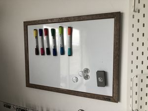 Whiteboard w/tons of New draw erase colors/eraser/and magnetic pins for Sale in Lauderdale Lakes, FL