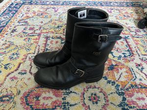 FRYE Stone Engineer - Mens 10 M - Black Leather Motorcycle Boots for Sale in Cambridge, MA