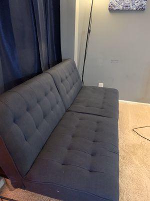 Modern Blue Futon Sofa for Sale in Washington, DC