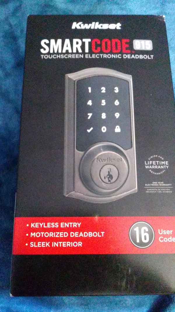 Kwikset SmartCode touch screen DeadBolt