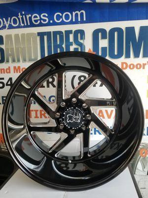 "New 24"" Inch 24x14 Black Rhino Swirl Wheels Chevy Silverado Duramax 2500 & 3500 8x180 Rims Truck Rims Offroad Wheels Mud tires for Sale in HALNDLE BCH, FL"