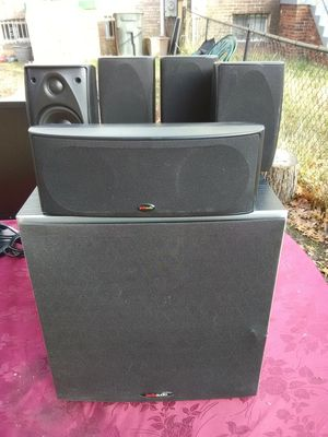 Polk Audio 5 speakers surround sound speakers with PSW10 subwoofer $350 for Sale in Washington, DC