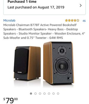 Microlab Chairman Bluetooth speakers for Sale in Norwalk, CA