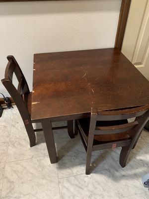 Kids table with 2 chairs for Sale in Chesapeake, VA