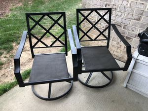 Wrought iron swivel patio chairs for Sale in Gaithersburg, MD