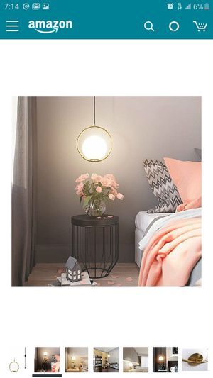 Golden pendant light plug in for Sale in Ontario, CA