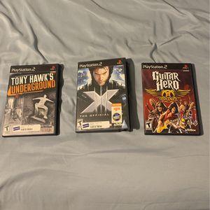 Classic PS2 Games (X-men) (guitar Hero ) (tony Hawk) for Sale in Fort Worth, TX