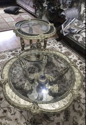 2 Romeo and Juliet tables and a 3 set antique couch for Sale in Sterling Heights, MI