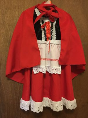 Toddler Little red riding hood costume (size 2T) for Sale in Winter Haven, FL