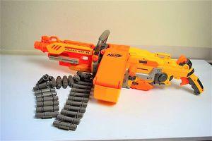 NERF N-Strike VULCAN EBF-25 Machine Gun + Belt Used Working - Kids Toys for Sale in Oceanside, CA