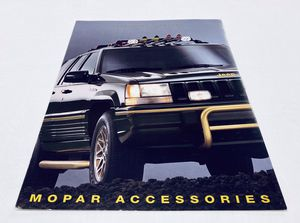 Rare OEM Mopar 1993 Jeep Grand Cherokee ZJ Owner's Accessories Manual Parts Catalog for Sale in Stanwood, WA
