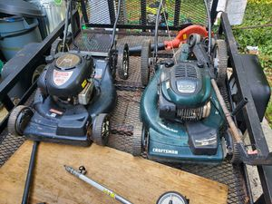 2 Craftsman mowers (not cranking, but might, haven't used in a while) for Sale in Riverdale, GA