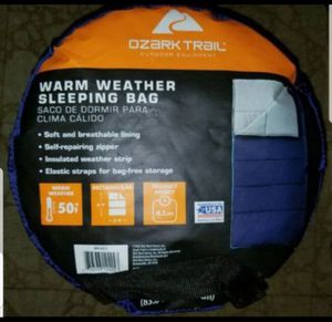Ozark warm weather sleeping bag for Sale in Arlington Heights, IL