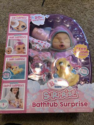 Baby born surprise bathtub for Sale in Tacoma, WA