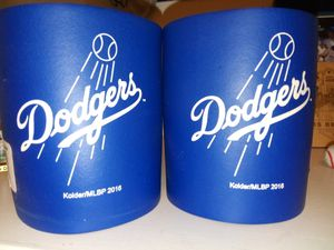 Dodgers cup holders and water bottles to for $12 selling as sets for Sale in Baldwin Park, CA