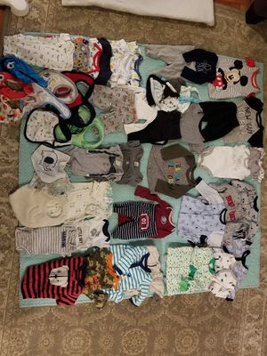 Huge Lot of Baby Boy Clothes P-3M for Sale in Monroe, WA